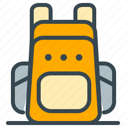 backpack, bag, clothes, holiday, pack, summer, vacation icon