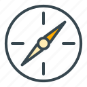 compass, direction, holiday, summer, vacation icon