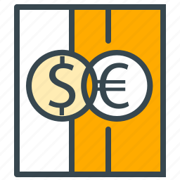 currency, dollar, euro, exchange, holiday, summer, vacation icon