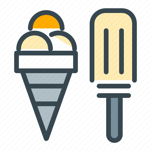 cone, cream, holiday, ice, snack, summer, vacation icon