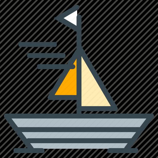 boat, holiday, ocean, sailing, sea, summer, vacation icon