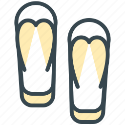 clothes, holiday, sandals, slippers, summer, vacation icon