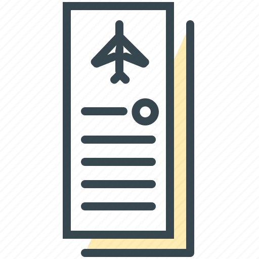 flight, holiday, plane, summer, ticket, tickets, vacation icon