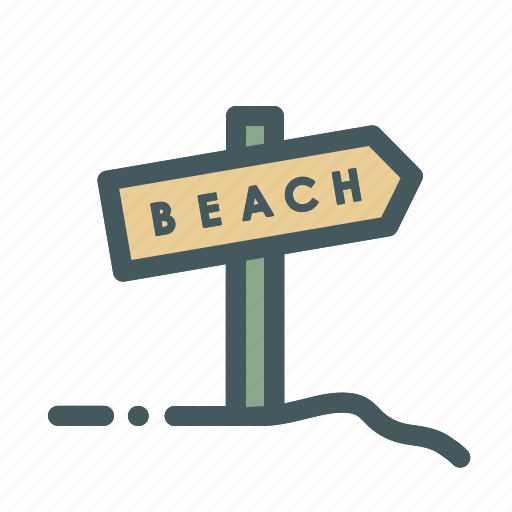 beach, board, holiday, sign, summer, vacation icon