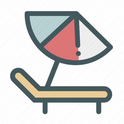 Beach, chair, relax, summer, umbrella icon - Download on Iconfinder
