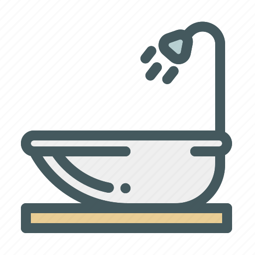 bathroom, bathup, shower, summer, water icon