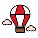 air balloon, summer, travel, vacation icon