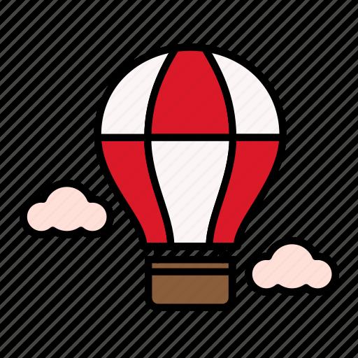 air balloon, summer, travel, vacation icon