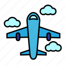 airplane, summer, travel, vacation icon