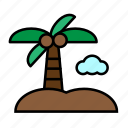 beach, sea, summer, vacation icon