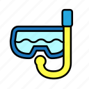 skinscuba, summer, vacation, water glasses icon
