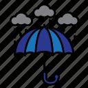 rain, rainy, summer, vacation, weather icon