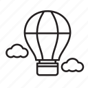 air balloon, holiday, summer, travel, vacation icon
