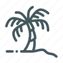beach, coconut, plant, summer, tree icon