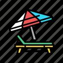 deck, chair, umbrella, summer, vacation, travel
