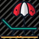 beach, holiday, sea, summer, travel, umbrella, vacation icon