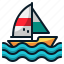 boat, sailboat, sailing, ship, transportation, travel, vehicle icon
