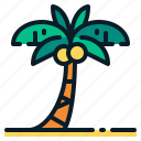 beach, coconut tree, palm tree, summer, travel, tropical, vacation icon