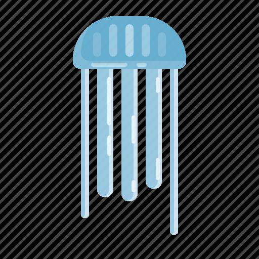 Beach, jellyfish, ocean, summer icon - Download on Iconfinder