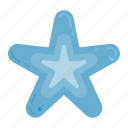 ocean, sealife, starfish, summer icon