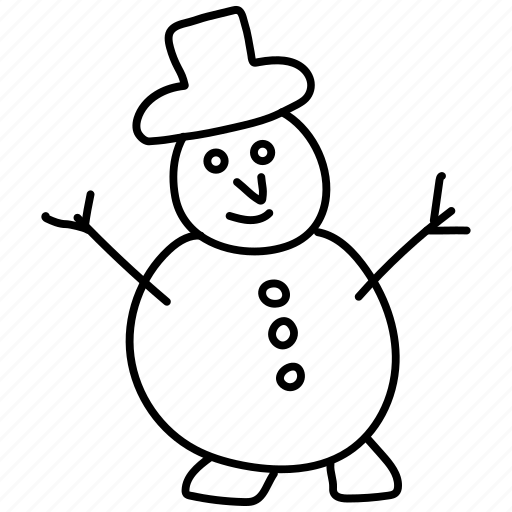 christmas, hat, snowman icon
