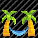 cocoanut, coconut, hammock, holiday, summer, tree, vacations
