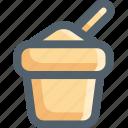 bucket, sand, summer, vacation