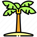 island, palm, tree, tropical