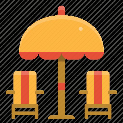 Beach, chair, summer, umbrella icon - Download on Iconfinder
