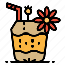 coconut, drink, food, fruit, restaurant icon
