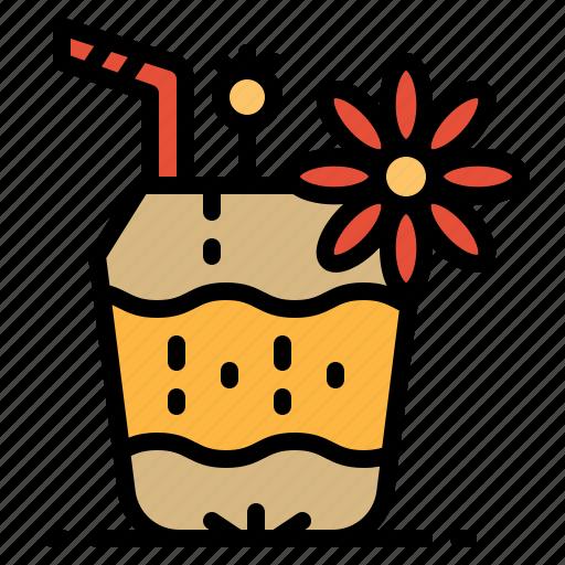 coconut, drink, food, fruit, restaurant icon