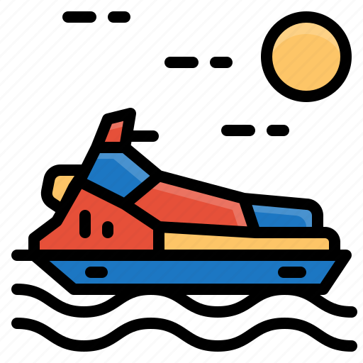 jet, scooter, sea, ski, transportation, vehicle icon
