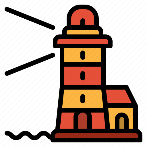 buildings, guide, lighthouse, sea, tower icon
