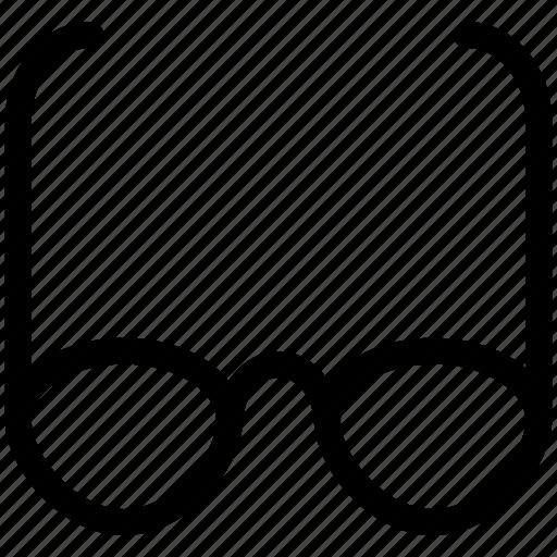 eyeglasses, sunglasses, view icon