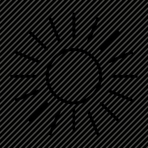 abstract, astrology, flower, shape, sun, sunbeam, weather icon