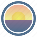 dream, sea, sunny, sunset, sunset and peep of morning icon