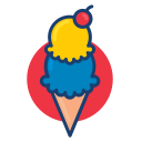 colorful, dessert food, ice cream icon