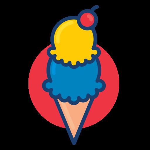 colorful, dessert food, ice cream icon