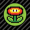 3, flower icon