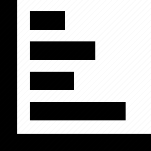 align, barchart, direction, horizontal icon