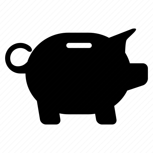 banking, coin, deposit, money, pig icon