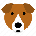 beagle, dog, face, happy, pet, smile, terrier icon