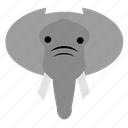 animal, cute, elephant, face, happy, safari, zoo icon