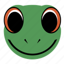 frog, lizard, reptile, face, happy, amphibian, animal