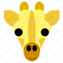 cute, face, giraffe, happy, head, safari, zoo icon