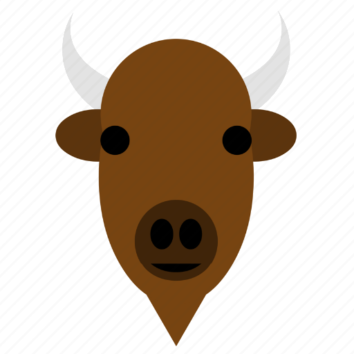 Bison, buffalo, bull, cute, face, happy, animal icon - Download on Iconfinder