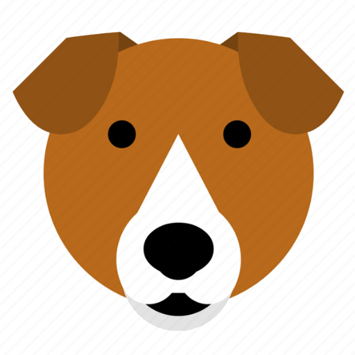 beagle dog face happy pet smile terrier icon