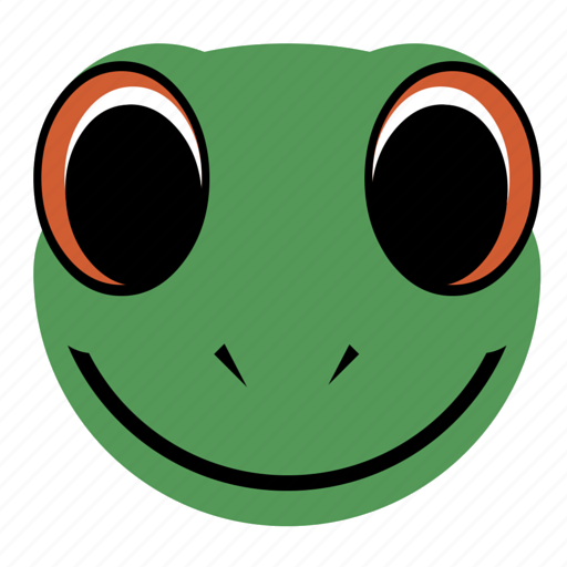 amphibian, animal, face, frog, happy, lizard, reptile icon