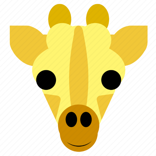 Cute, giraffe, safari, zoo, face, happy, head icon - Download on Iconfinder