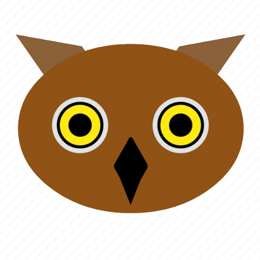 animal, bird, cute, face, night, owl, zoo icon